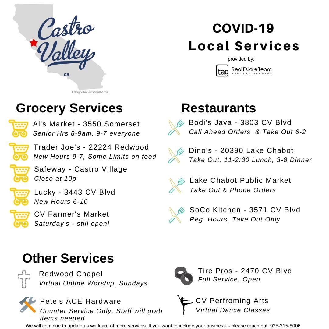Castro Valley CoronaVirus Quarantine Guide